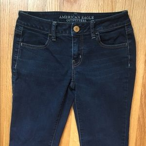 American Eagle Outfitters dark wash skinny jeans 2